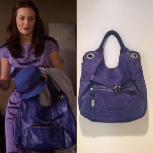 Foley + Corinna blue jet setter tote bag